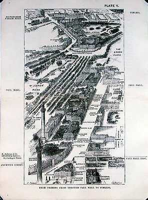 From Charing Cross through Pall Mall to Pimlico, London in 1887, Herbert Fry