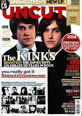 UNCUT #201 2/2014 THE KINKS David Crosby MOGWAY +Best of 2014 New Music CD @NEW