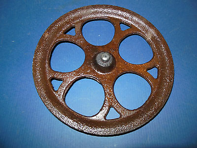 1880 / 1900 Nice Large Pulley Industrial Antique Steampunk Primitive Cast Iron