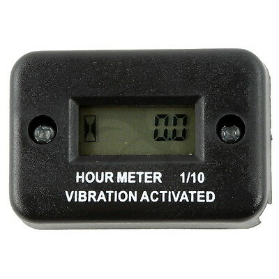 Waterproof Black Vibration Hour Meter For Motorcycle ATV Snowmobile Boat New