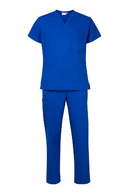 NEW Light Royal Blue Scrub Set - Medical Surgical Nursing Scrubs - FREE shipping