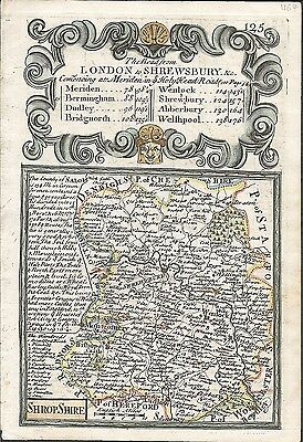 Road from London to Shrewsbury, commencing at Meriden, Ogilby / Bowen. E, 1736