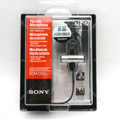 SONY ECM-CS3 Condenser Microphone Business Tie-clip