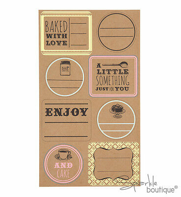 BAKING LABELS x48 - For Giftable Baked Goods/Jam - Personalise Home Made Gifts