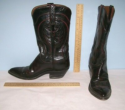 Lucchese Vintage Boots - Western Cowboy Boots - Ladies Size 7 B - Black Cherry