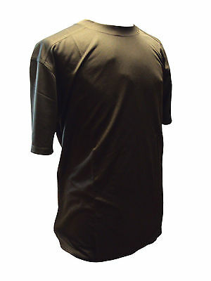 British Army Self Wicking T-Shirt - Brown In Colour - Various Sizes - Used