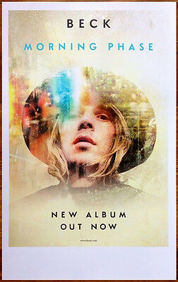 BECK Morning Phase Ltd Ed Discontinued RARE Poster 2015 Grammy Album Of The Year