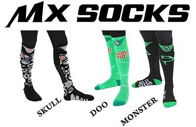 BILLY WHO Adult Motocross MX Enduro Socks Size 9-12, 3 colours Available