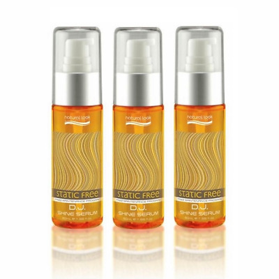 3 x Natural Look Static Free DJ Shine Serum 50ml/Paraben-SLS-Cruelty-Vegan Free
