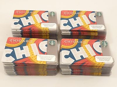 Lot 100 Chicago Starbucks Cards Limited Edition Chicago Theater Brand New