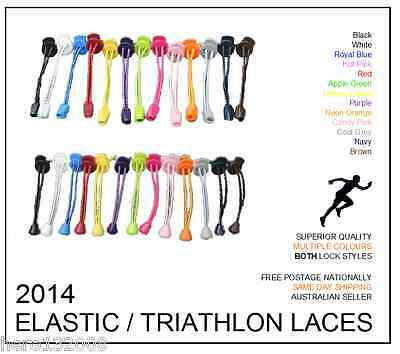 New Elastic Shoe Laces with Lock - Triathlon Running Sports