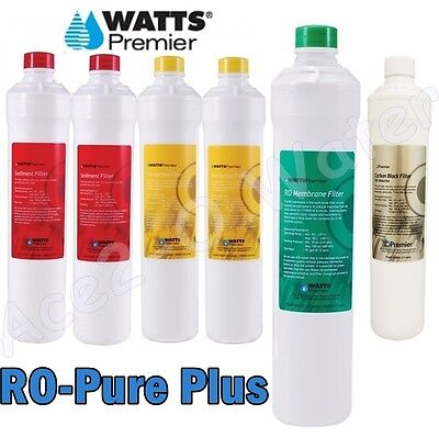 Watts Premier RO-Pure PLUS Annual Filter Bundle Factory Fresh 531109 & 105331
