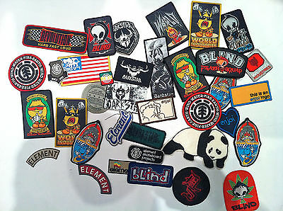 Original Vintage Skateboard 90' Blind,Element,Enjoi,DarkStar Patch/Patches World