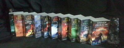 Malazan Book of the Fallen Series Complete Collection Set 1-10 by Steven Erikson