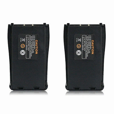 2 x Baofeng 3.7V 1500mAh Li-ion Battery for Baofeng BF-888S 2-way Radio UK Stock