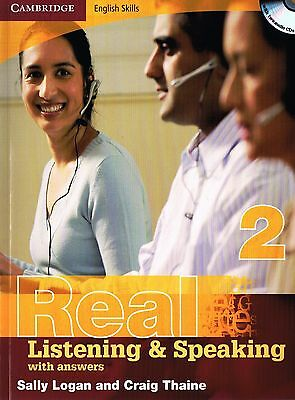 Cambridge REAL LISTENING & SPEAKING 2 English Skills with Answers +AUDIO CDs New