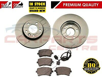 FOR VW TRANSPORTER T5 1.9 2.5 REAR VENTED 294mm BRAKE DISCS PAD PADS SET 03-09
