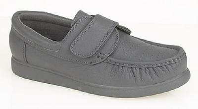 Mens Ladies Gents New Leather Velcro Light Bowls Bowling Shoes Grey /Tan / White