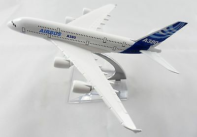 16cm Airbus A380 Airlines Metal Desk Display Aircraft Plane Model Toy Aeroplane