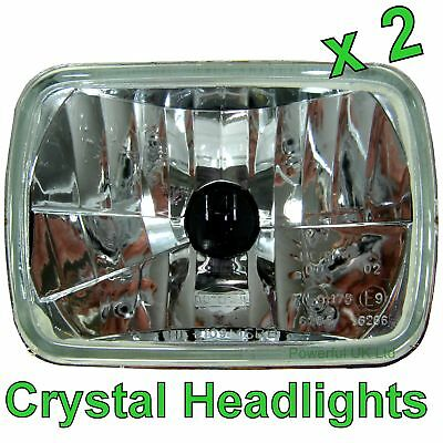 Pair of Halogen Crystal H4 Headlamps for Toyota Hilux Mk3 RHD Pickup headlights