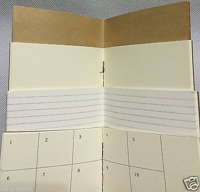 9X5 1 Blank Paper Refill For Standard Midori Traveler's Journal Diary Note Book