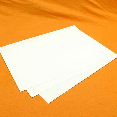A3 White Plasticard / Styrene - 20TH, 30TH, 40TH, 60TH, 80TH Thou / 0.5mm-2.0mm