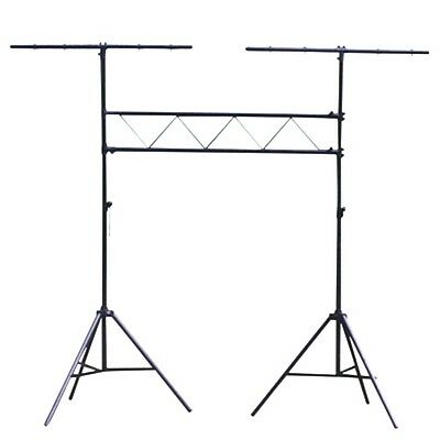 Gorilla 1.5M Truss Lighting Stand System Mobile DJ Disco Twin T Bar Stand