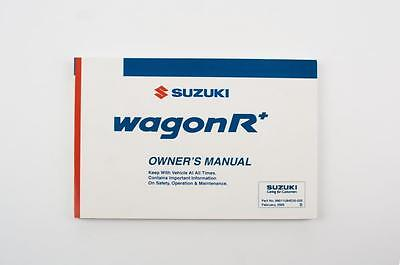 Genuine Suzuki Wagon R RB Owners Manual 99011U84E20-02E