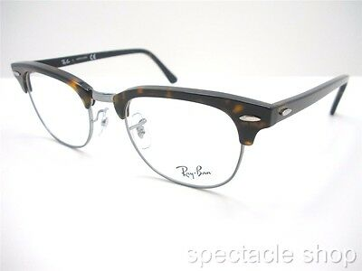 Ray Ban Frames RB 5154 2012 Clubmaster Tortoise Gunmetal New Authentic