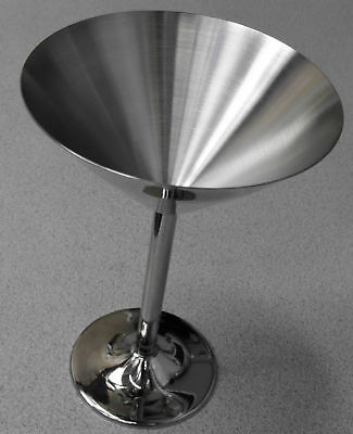 7oz. Stainless Steel Crisp Martini Glass