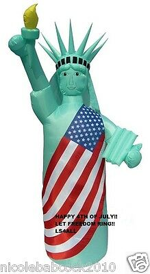 8 FT TALL PATRIOTIC 4TH OF JULY STATUE OF LIBERTY AIRBLOWN INFLATABLE YARD DECOR