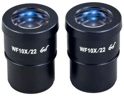 A Pair of 30mm WF10X/22 High Eye-point Widefield Microscope Eyepieces