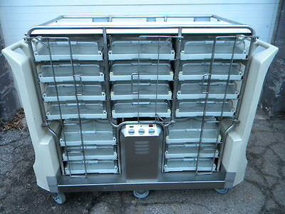 AWESOME MELFORM 18 TRAY WARMER FOOD STORAGE TRANSPORT UNIT/CART W/BATTERY SUPPLY