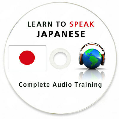 Learn To Speak Japanese- Complete Language Training Course on MP3 DVD