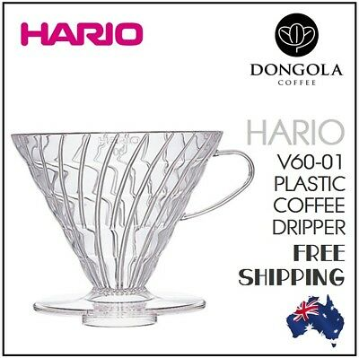 NEW HARIO V60 01 Cup Plastic Coffee Dripper Pour Over Cone Filter Brewer
