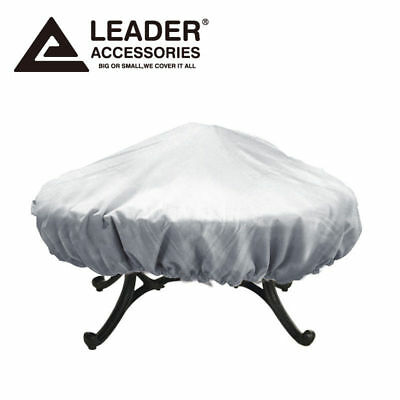 Leader Accessories Outdoor Round Fire Pit Cover Up to 44 in.D and 60 in.D