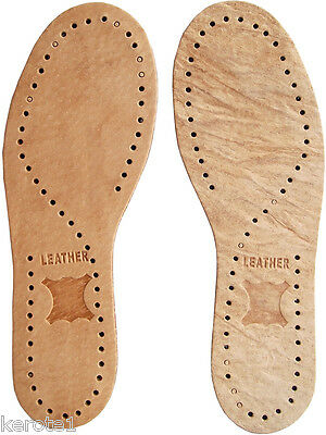 Leather Insoles Unisex Latex Carbon Layer size 2 to 11 Moisture Absorbing Wear