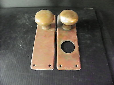 Antique Brass Door Hardware (2 Plates And 2 Knobs)  6279