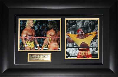 Hulk Hogan WWE Wrestling signed 2 photo frame