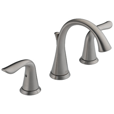 Delta 3538lf Ss Lahara 2 Handle Widespread Lavatory Faucet Stainless