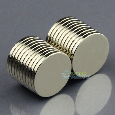 20pcs Strong Disc Disk Round Rare Earth Neodymium Magnets 10mm x 1mm N50 Grade