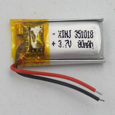 3.7V 80 mAh Polymer Li battery LiPo For Mp3 GPS Bluetooth headset pen 351018