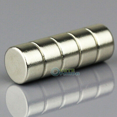 5pcs Strong Disc Disk Round Rare Earth Neodymium Magnets 10mm x 6mm N50 Grade