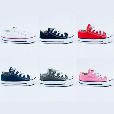 Converse Toddlers/Infants C/T A/S OX Lo Trainers new in UK Size 3,4,5,6,7,8,9,10