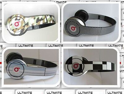 Sticker decal skin WRAP FOR Beats by Dr Dre solo studio LOT kit camo Carbon part