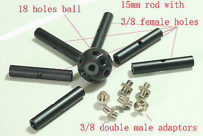 Multifunctional Magic Ball with rods for Studio Lighting/Tripod 5d2 5d3 system