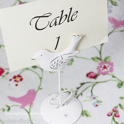 Bird Photo Table Name / Number Holder Shabby Chic Vintage Style Clip Wedding x 4
