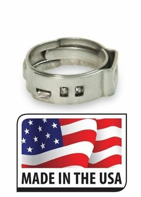"""100 PCS. 1/2"""" PEX All Stainless Steel Pinch Clamps Rings PEX12"""