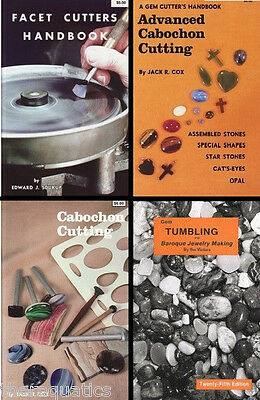 GEM CABOCHON FACET CUTTING TUMBLE Tumbling Grinding Cabbing ROCK Books CHOOSE