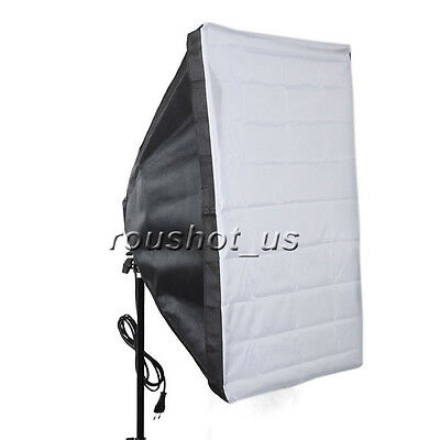 New 50cm x 70cm Studio Lighting Photo Softbox For 4 Socket E27 Lamp Bulb Head